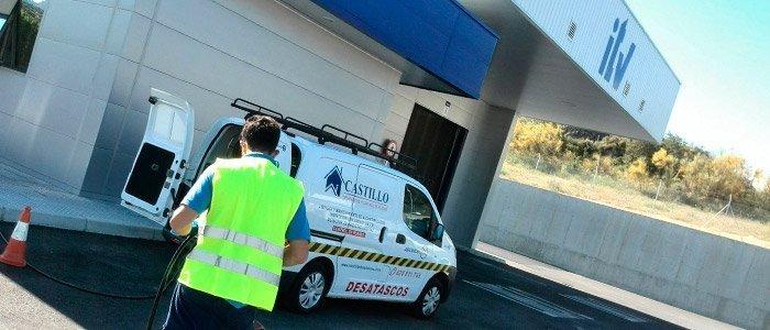 Desatasco e inspección con Cámara de TV en una ITV de Montoro, Córdoba