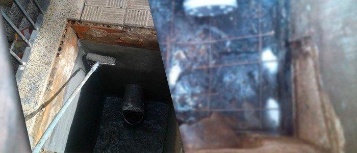 Reparación de arqueta sifónica en Mairena del Aljarafe