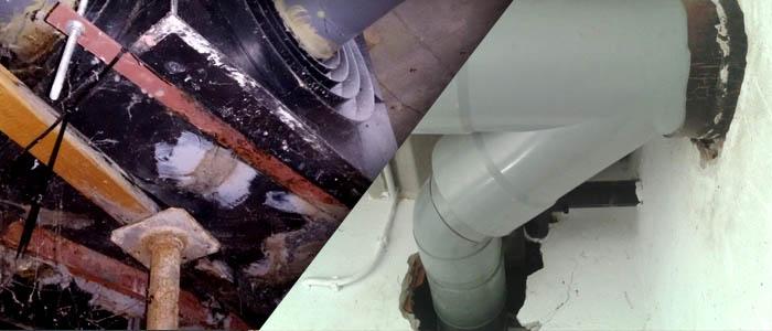 Cambio de arquetas de paso aéreas por tramo de colector PVC en Bormujos