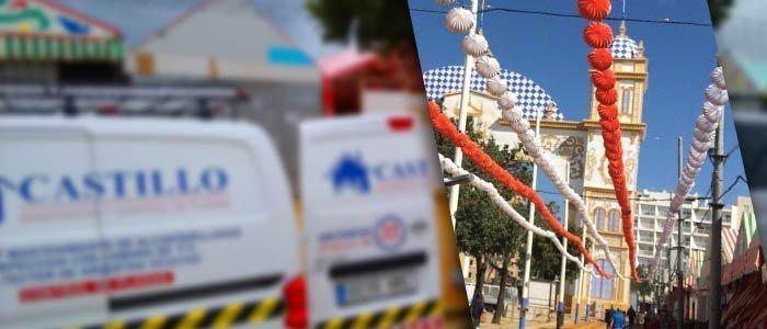 Limpieza preventiva de casetas en la Feria de Abril
