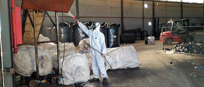 Desinsectación y desratización en planta recicladora de plásticos