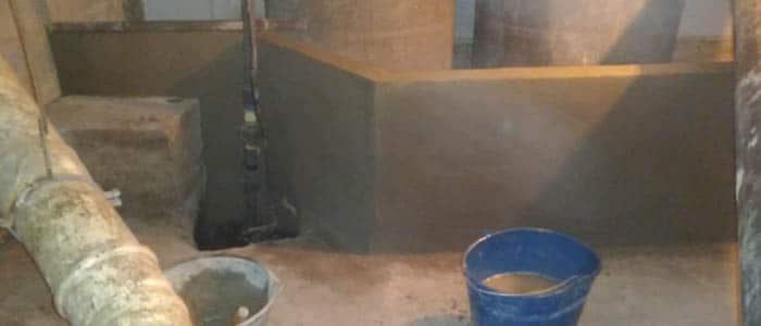 Construcción de un tabique de contención en comunidad de propietarios | Castillo Desatascos